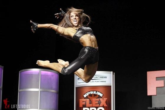 Oksana Grishina has famously awesome fitness routines.